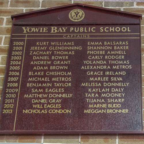 school swimming carnival honour boards signage