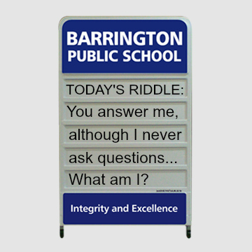 riddle-on-school-signage