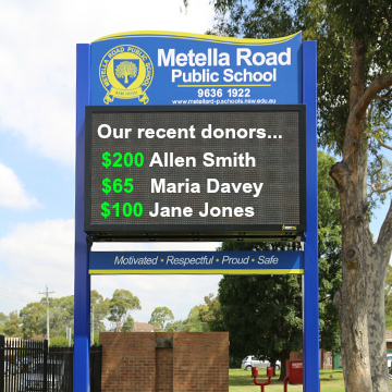 marketing school fundraisers digital signs