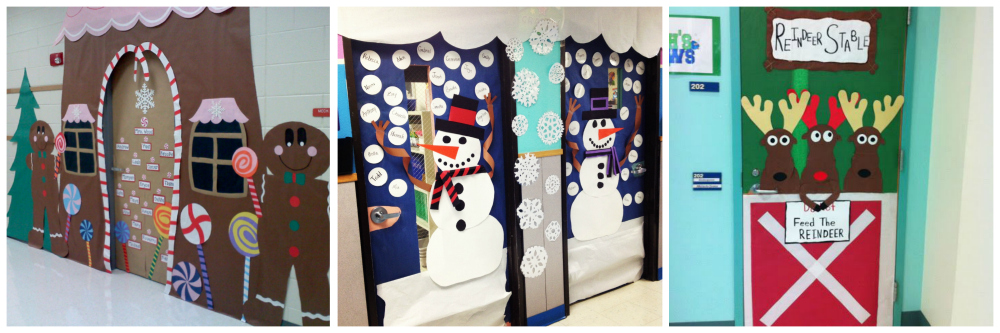 school Christmas decoration ideas doorways