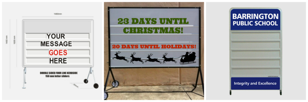 school Christmas decoration changeable signs christmas countdown