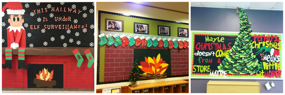 school Christmas decoration school notice boards