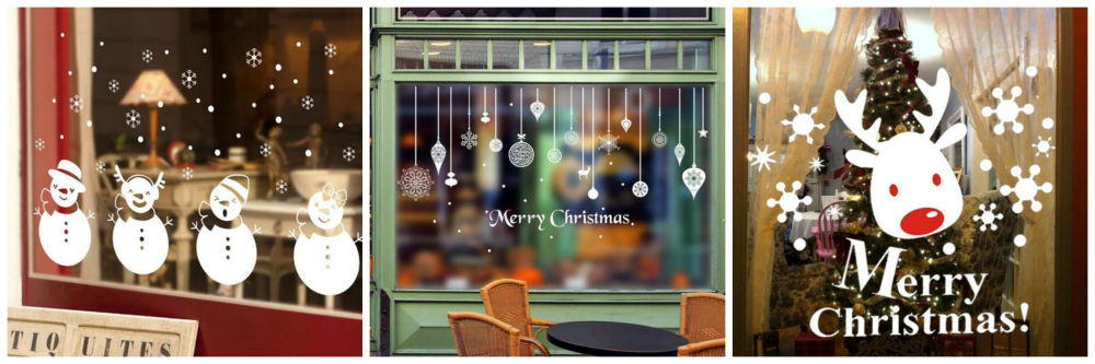 school Christmas decoration window vinyls