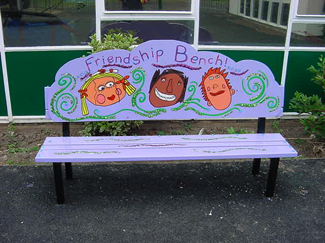 school bullying signs friendship bench