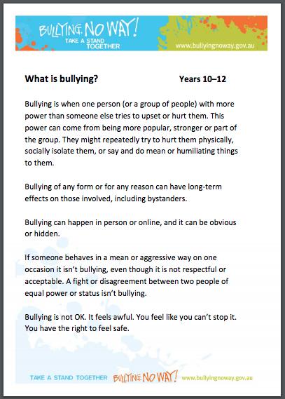 school bullying signs
