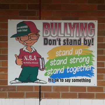 school bullying signs signpac