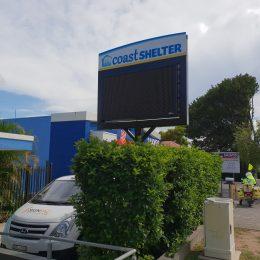 Coast Shelter Digital Sign