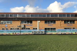 Front of School Sign