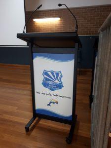 Hall lectern