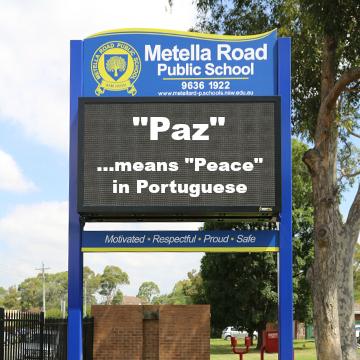 international peace day signage ideas